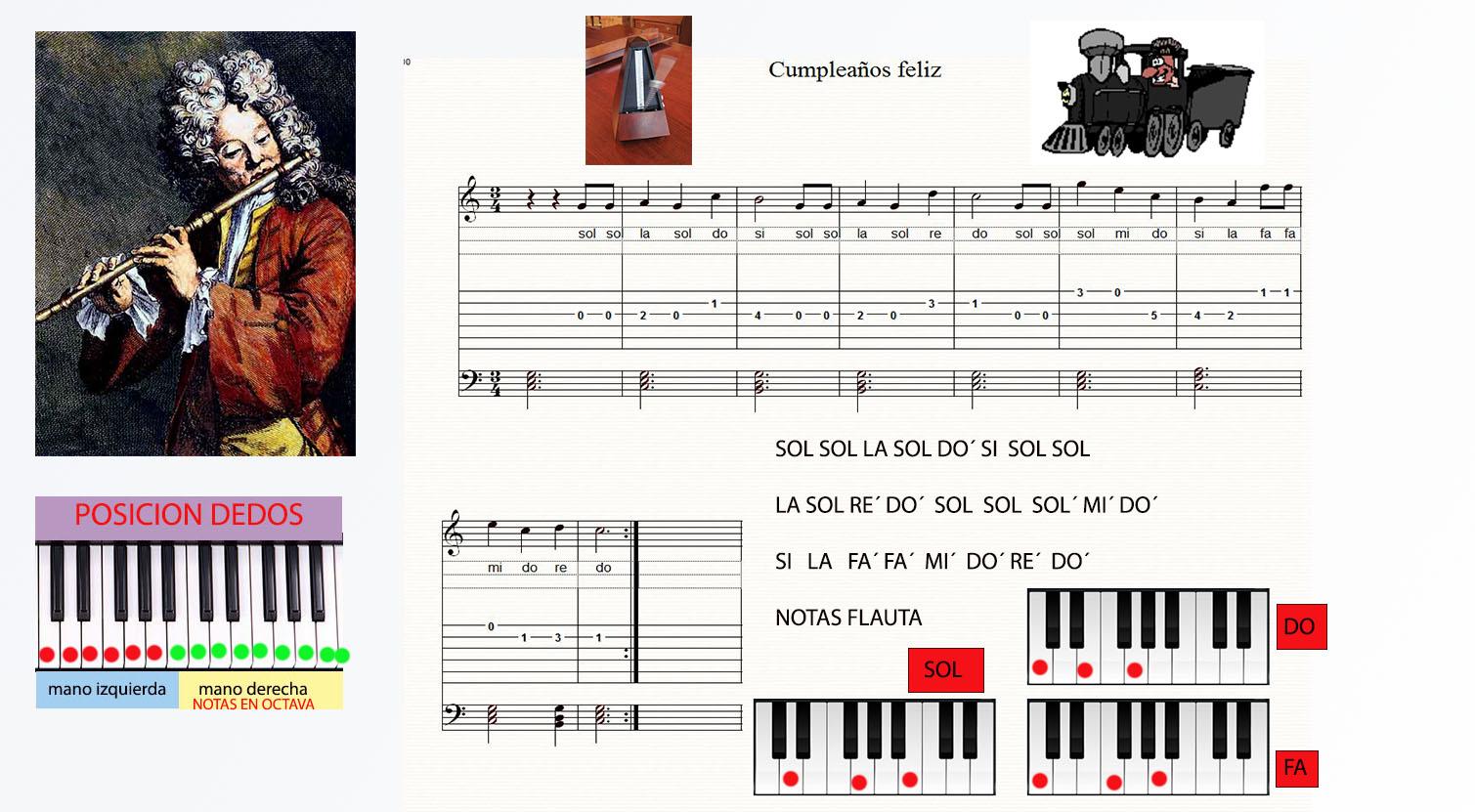 Ficha musical cumplea os feliz lo mejor del mundo la m sica piano y flauta - Cumpleanos feliz piano ...