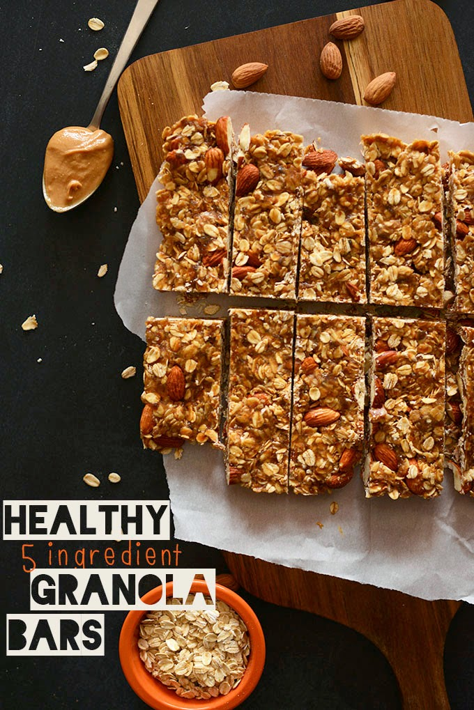 DIY Healthy 5-Ingredient Granola Bars
