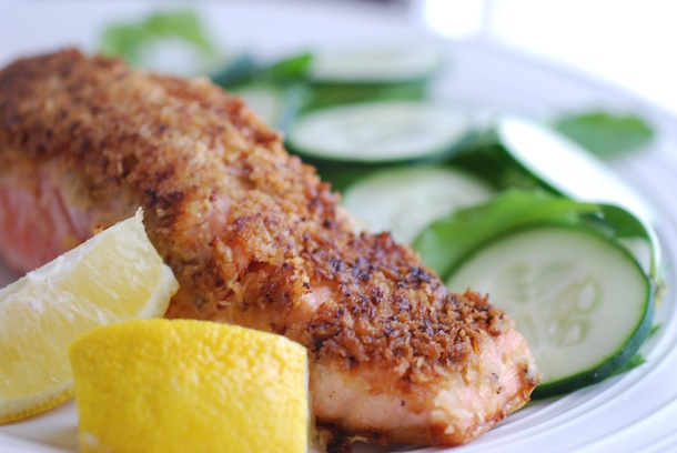 Mustard & Panko Crusted Salmon Fillets - Always Order Dessert