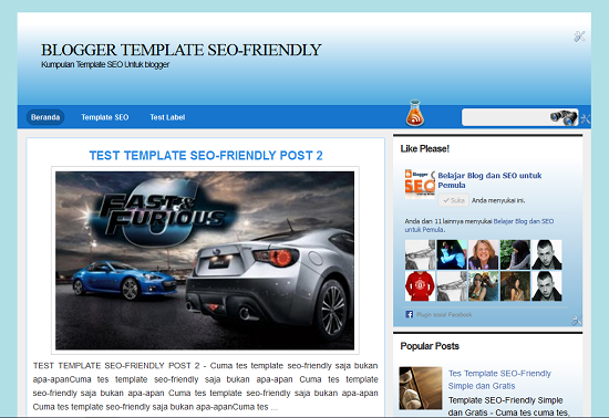 blogger template seo-friendly