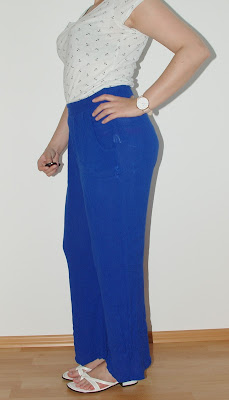 [Fashion] How to Style Palazzo Pants - I´m anchored: Simple T-Shirt and blue Palazzo Pants