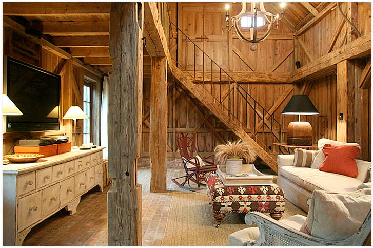 Color outside the lines love barns turned homes Barn home interiors