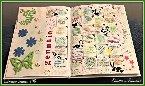 Calendar Art Journal : Priorità e passioni art journal calendar