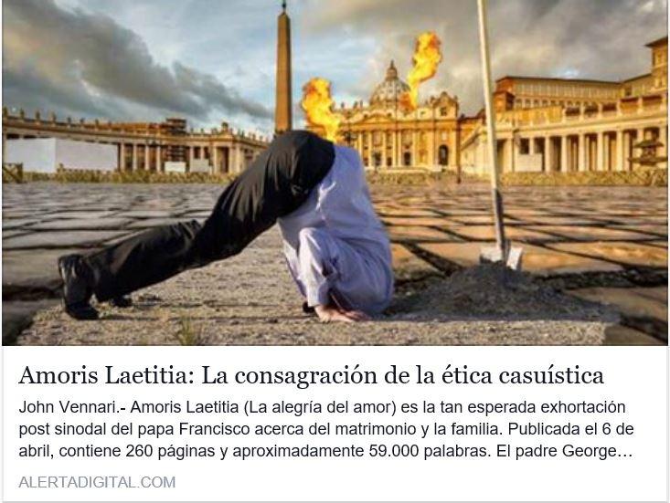 Amoris Laetitia: La consagración de la ética casuística