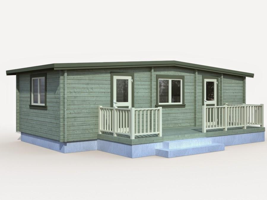Casas de madera baratas bungalow molly1 de madera n rdica - Casas madera nordicas ...
