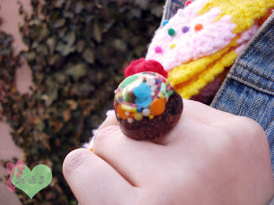 Kawaii Rainbow Sprinkles Ring