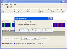 Fungsi dan cara kerja disk defragmenter