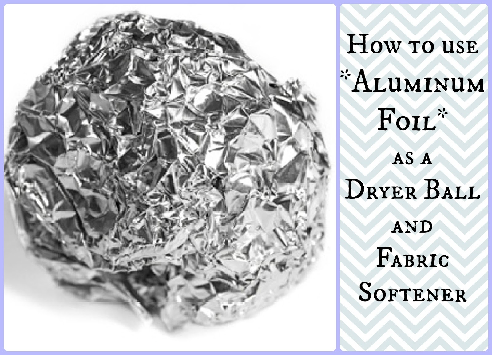 Aluminum foil does not go bad! If you are missing the fresh scent that dryer sheets leave, try this DIY essential oil spray instead! Everyone can feel good about clean laundry and natural smells.
