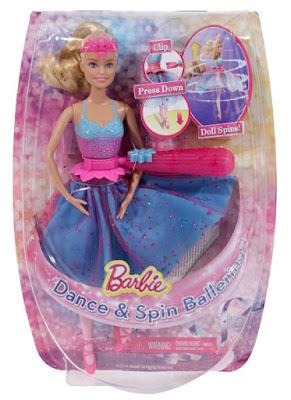 TOYS : JUGUETES - BARBIE  Giros Mágicos | Muñeca Bailarina  Dance & Spin Ballerina Doll  Producto Oficial 2015 | Mattel CKB21 | A partir de 3 años  Comprar en Amazon España & buy Amazon USA