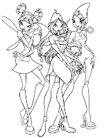 Winx Club Girls Coloring Pages Printable