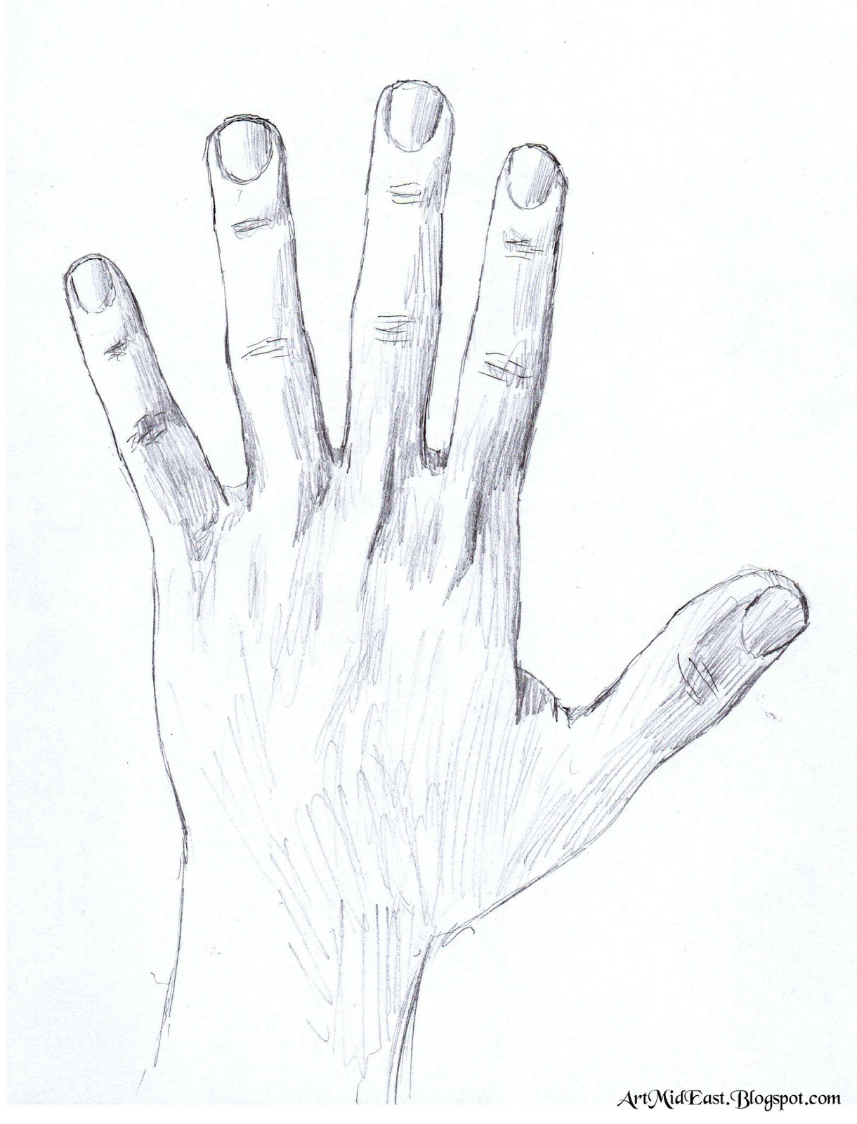 How to draw a hand - A step by step guide | Drawing Lessons