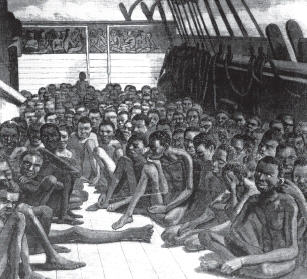 the horrors of a slave ship Excerpts from slave narratives - chapter 6  such were the horrors of my views and fears at the moment, that if ten thousand worlds had been my own, i would have .