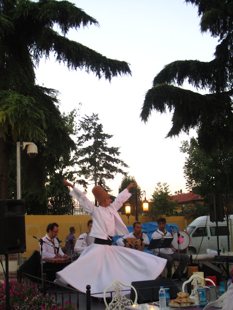 Whirling dervish in Istanbul, Turkey.