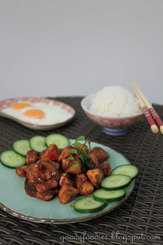 ... : Recipe: Stir fried chicken with dark soy sauce and curry powder