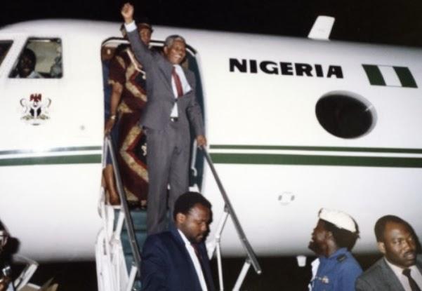 nelson mandela visits nigeria