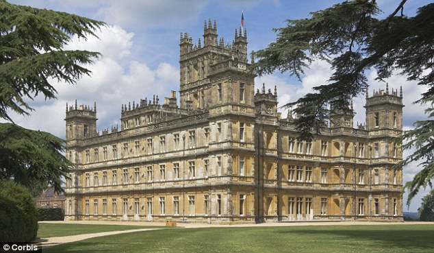 Sense and simplicity downton abbey house tour - Chateau downton abbey ...