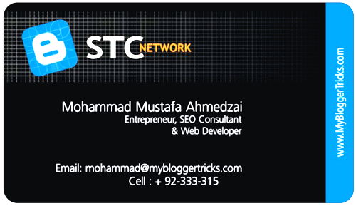 Best Business Cards example For Websites blog developer my blogger tricks blog