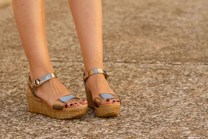 Blogger Adicta a los Zapatos Cuñas plata