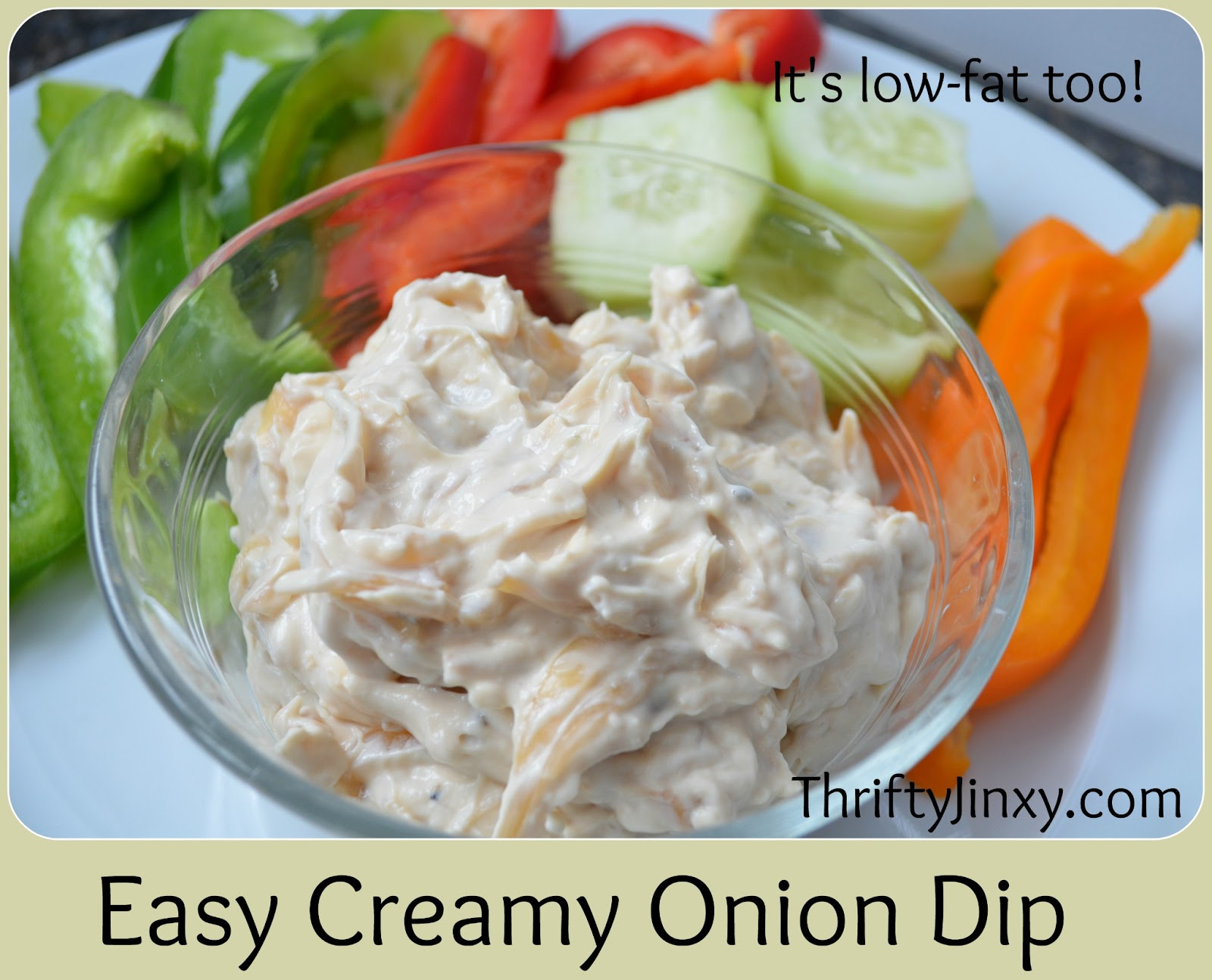 Low Calorie Onion Dip Recipe - Snack-Girl