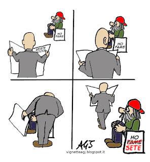 caldo, solidarietà, umorismo, satira sociale, vignetta