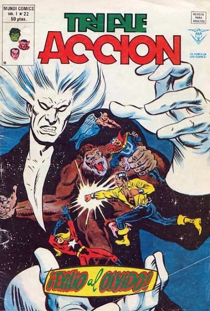 Portada de Triple Acción Volumen 1 Nº 22 Ediciones Vértice
