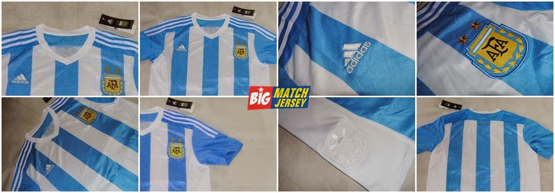Detail jersey Timnas Argentina Home Online Jersey Argentina Musim Depan Copa Amerika Chile 2015