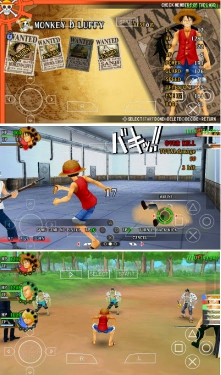 permainan game One Piece Romance Dawn CSO For PSP Android