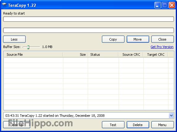 Teracopy para copiar archivos más rápido en Windows