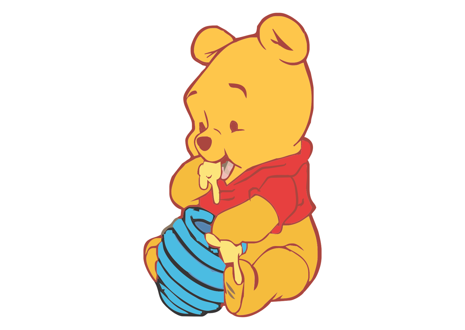 Baby Pooh Logo Vector download free