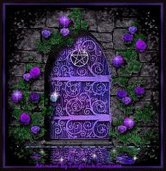 A purple Door Signifies That A Witch Resides Here