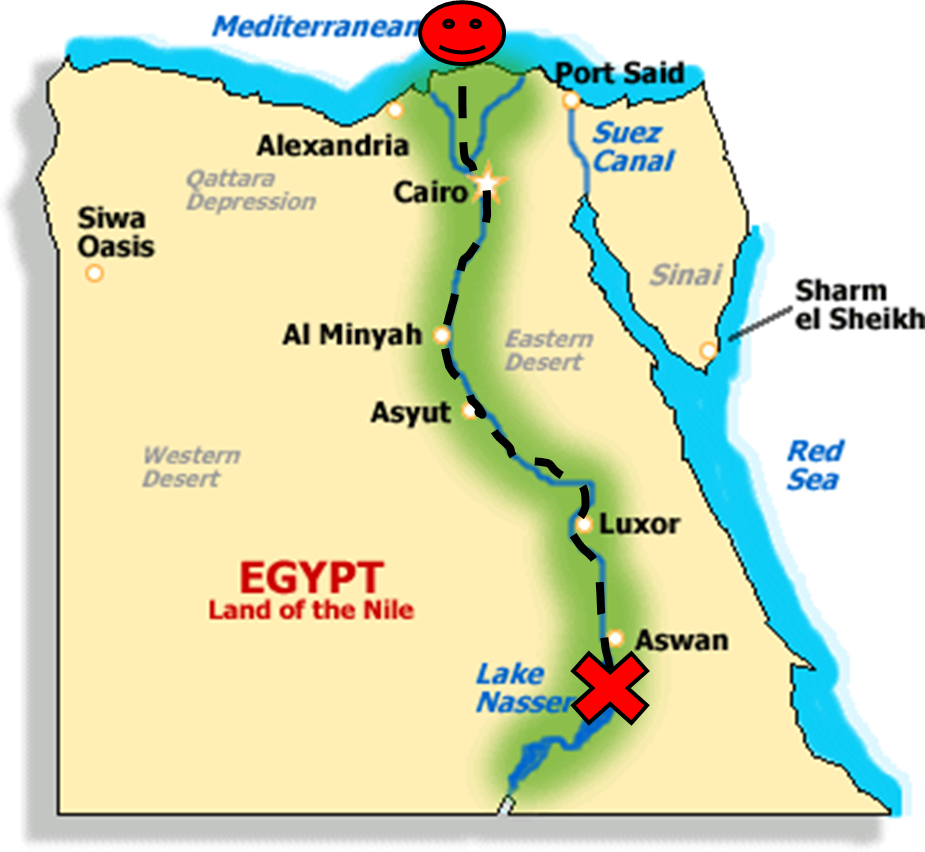 All About Ancient Egypt Map