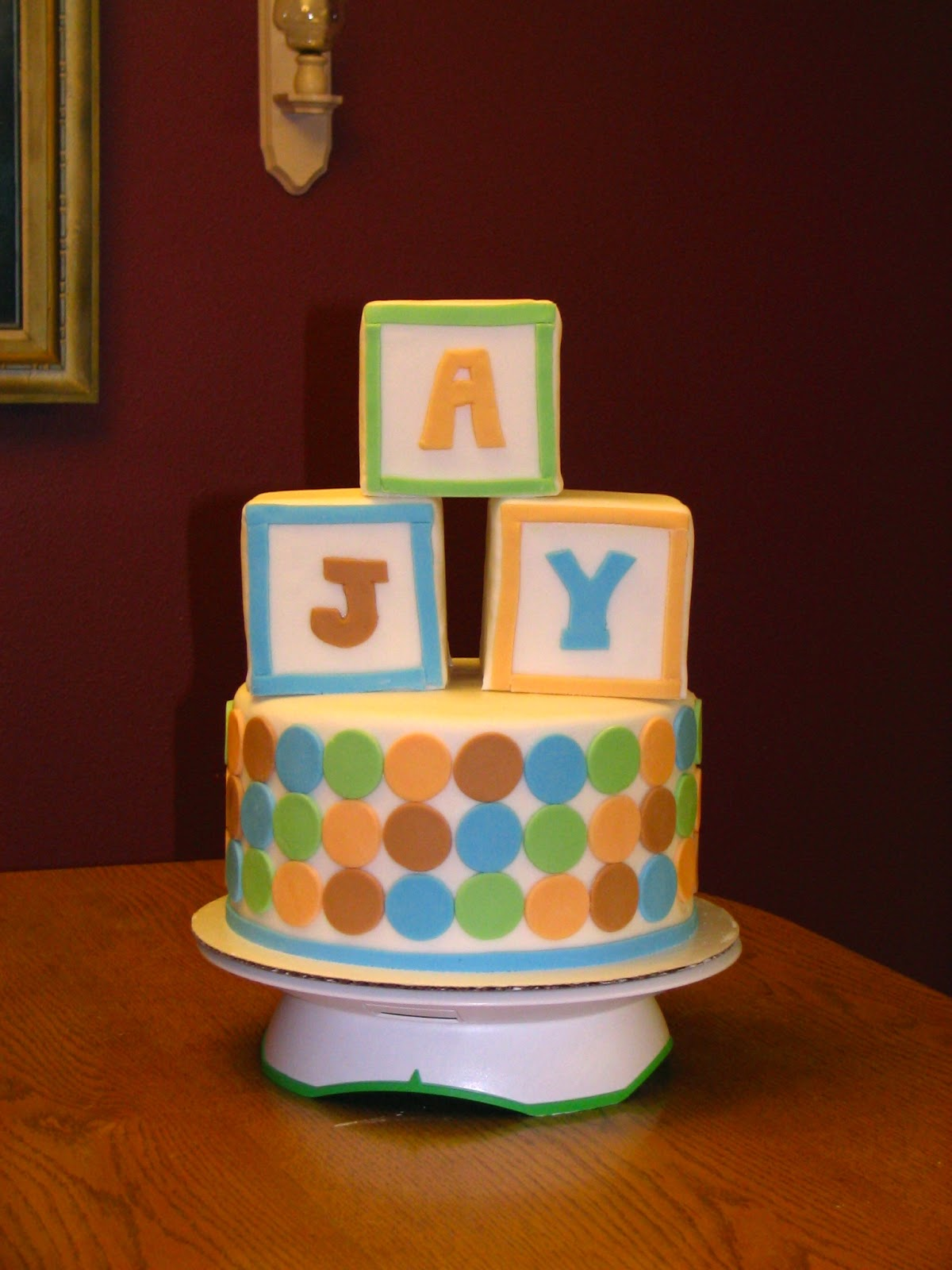 My cakes creations and more abc block cake for Alphabet blocks cake decoration