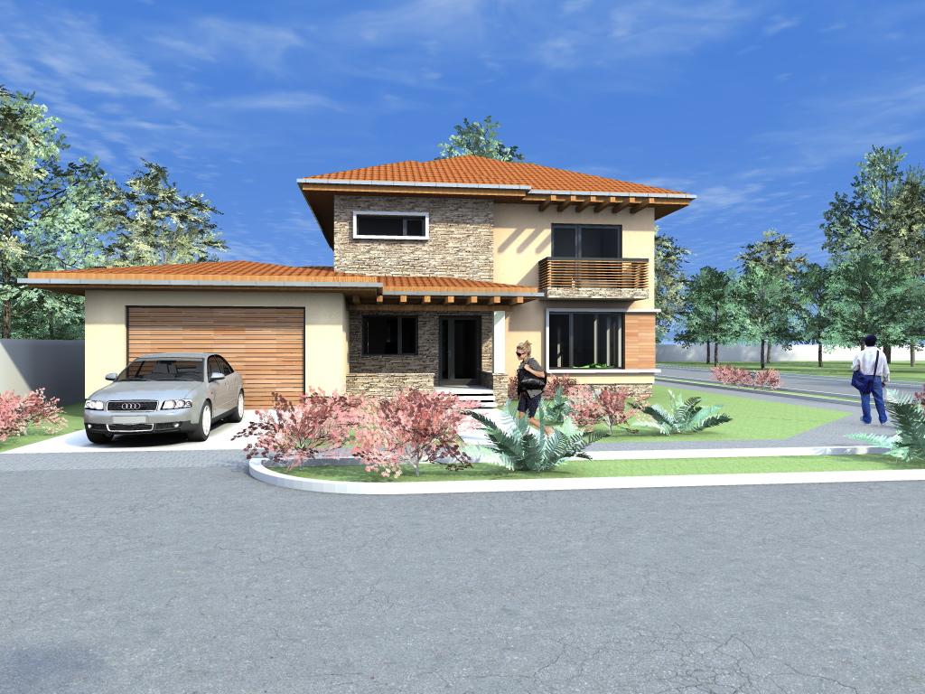 Arhiconstruct proiecte case cu garaj si etaj casa c26 for Case de vis cu etaj