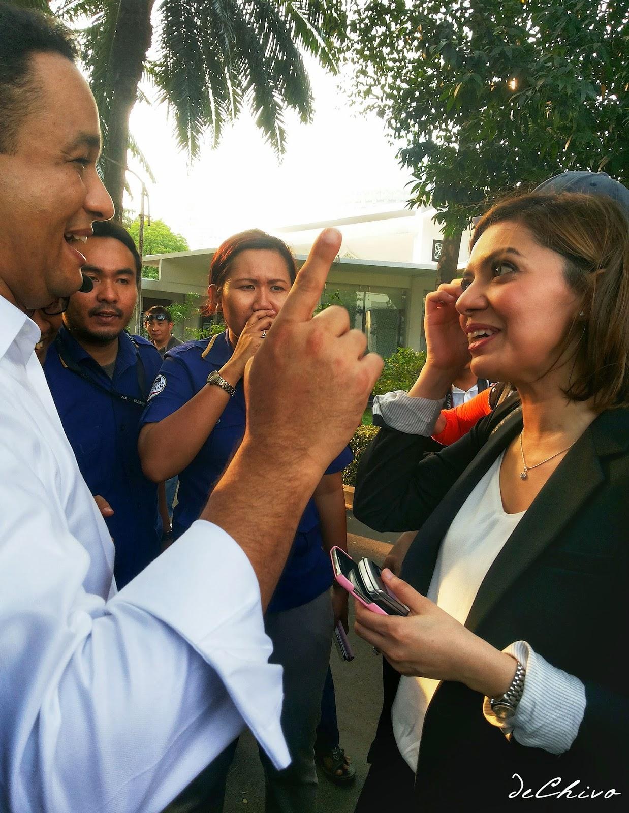 Pak Anies Baswedan dan Mbak Najwa Shihab setelah Pelantikan Jokowi-JK