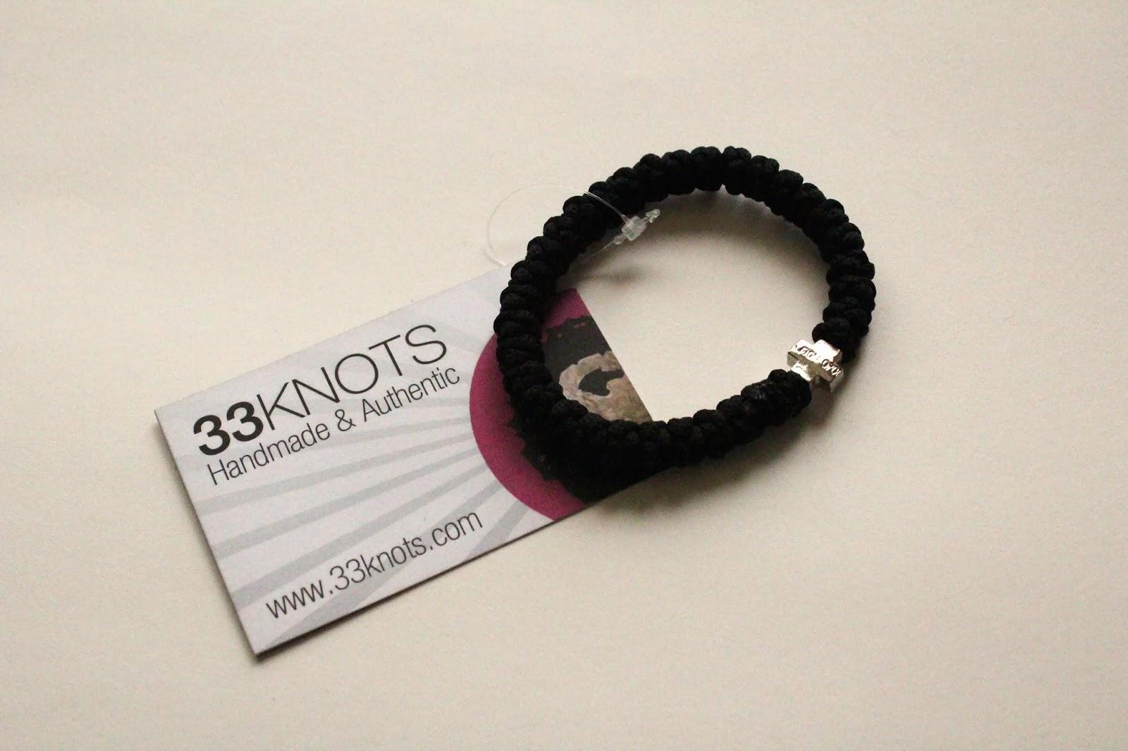 prayer rope bracelet by 33knots