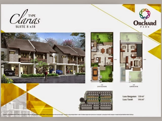 Tipe Clarias 8x18 m2 Cluster Durio Orchard Park Batam