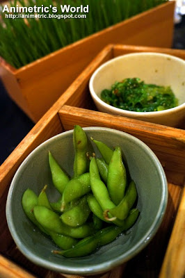 Edamame and Wakame at Yabu The House of Katsu