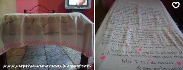 roupa de cama personalizada para o namorado