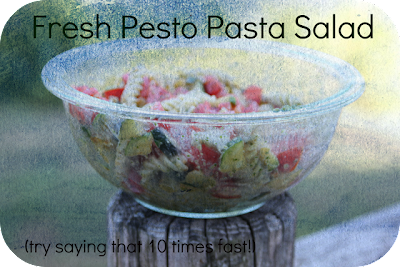 Nap-Time Creations: Fresh Pesto Pasta Salad