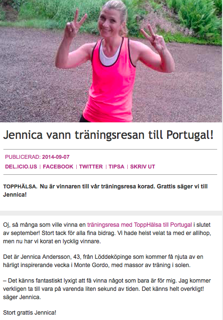 http://www.topphalsa.se/artiklar/Jennica-vann-traningsresan-till-Portugal/