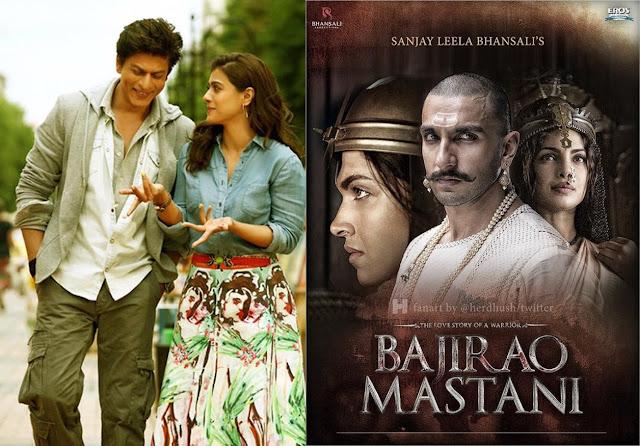 Dilwale, Bajirao Mastani: SRK-Kajol, Deepika-Ranveer's movies are today's mega releases
