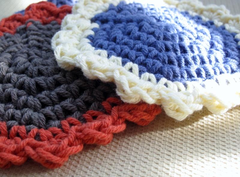Modern Crochet Flower Pattern : Modern Grace Design: Crochet Flower Coaster :: Pattern