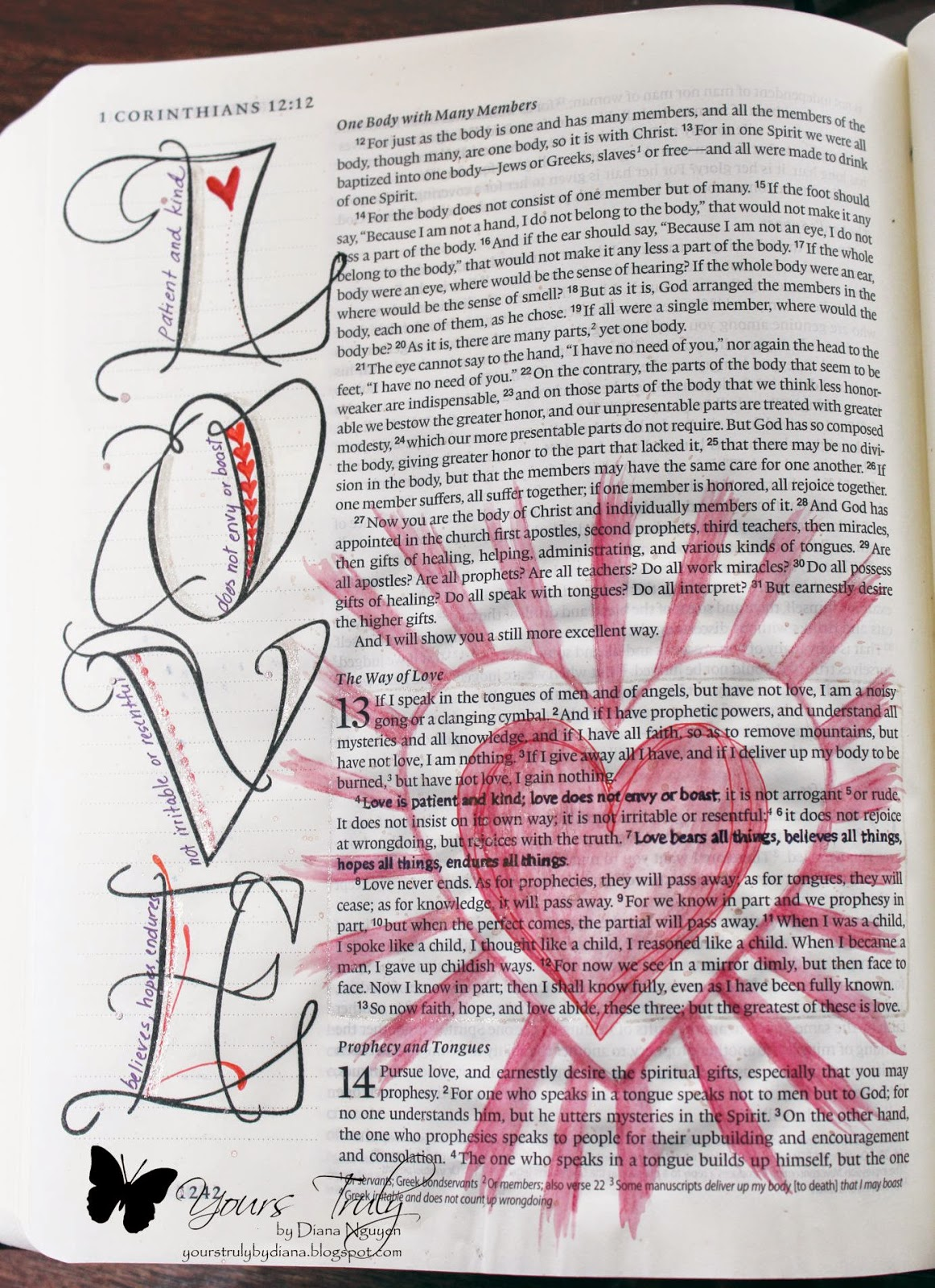 Diana Nguyen, Bible, art, journaling, illustrated faith, Quietfire Design