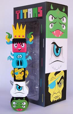 Toy Titans Toytem Vinyl Figure by Gary Ham - Lulubell Toy Bodega, Spanky Stokes, Rotofugi, Dragatomi & Clutter Magazine/The Designer Toy Awards