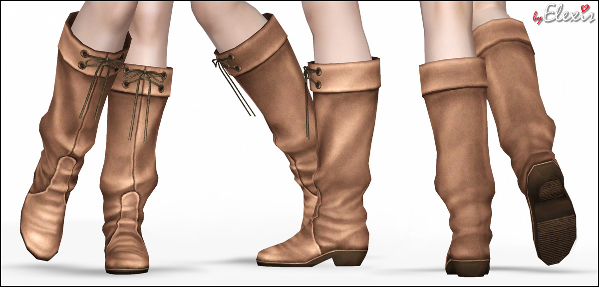 Empire Sims 3: Update - Spring Grace - Suede Boots For ...