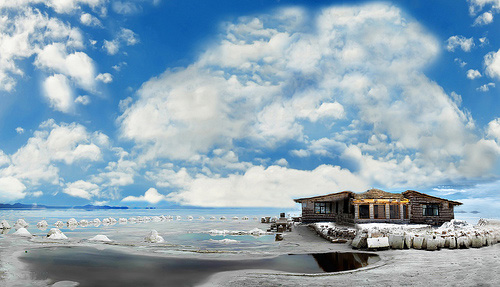 Amazing world salar de uyuni salt flats in bolivia the for Salar de uyuni hotel made of salt