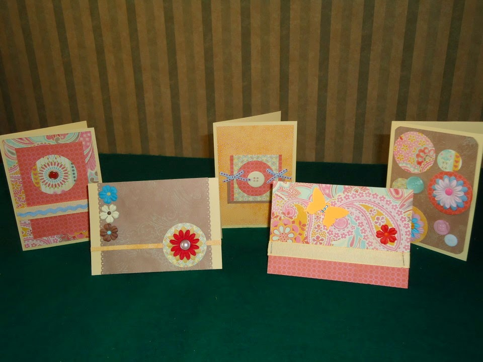 "Five teacher appreciation day cards made using the ""Serial Method"" of crafting @ATIPicalDay #teacherappreciationday #cards #crafts #stamping #creativecards"