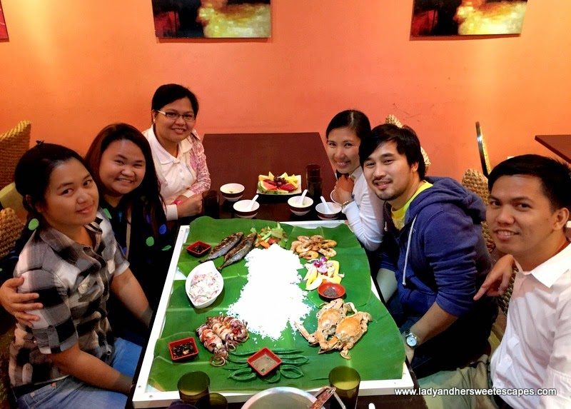 Seafood Boodle Fight at Asian Flavors Dubai