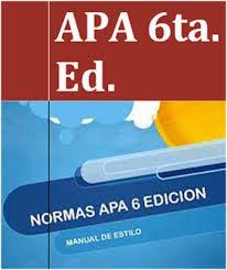 Manual de estilo APA 6ta edic.