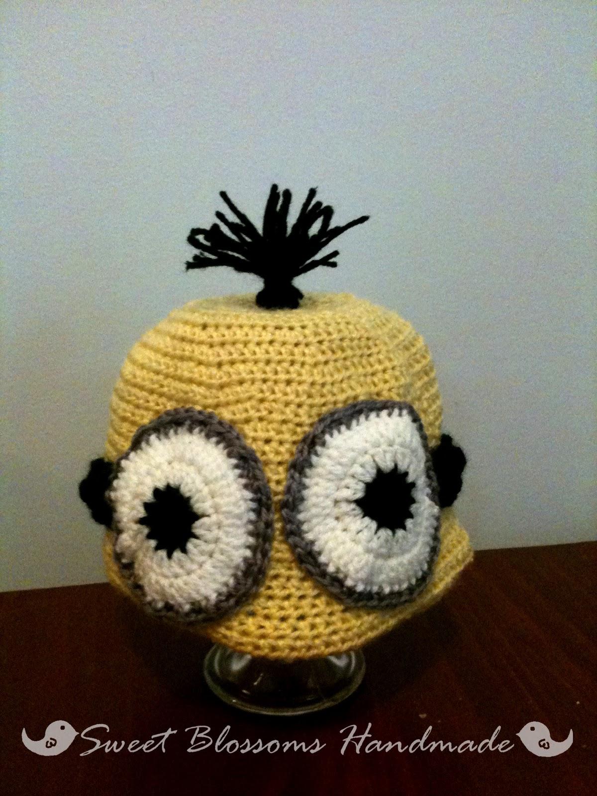 Free Crochet Pattern Minion Beanie : Sweet Blossoms Handmade: Minion Beanie Crochet Pattern